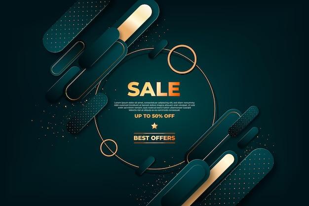 Sfondo di vendita di lusso Vettore Premium