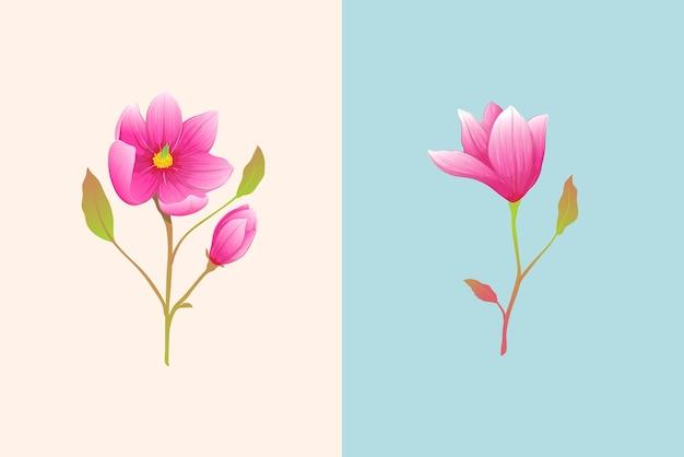 Design di fiori bohémien singoli di lusso per invito o decorazione. stile acquerello disegnato a mano.