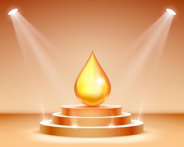 Toner per la pelle di lusso, crema bb o scrub esfoliante contenuti nel tubo, sfondo scuro. concetto di trucco cosmetico e organico. illustrazione vettoriale