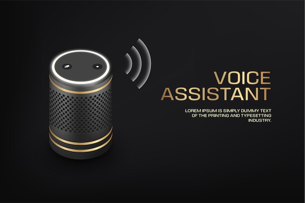 Altoparlante intelligente di lusso con assistente vocale