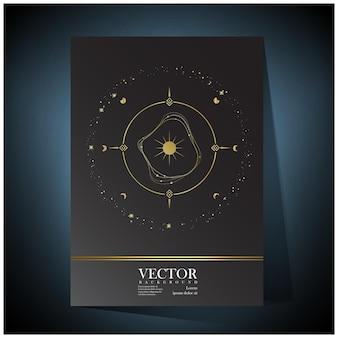 Spazio di lusso esplora i modelli di sfondo dell'universo Vettore Premium