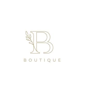 Logo in stile di lusso con iniziale b per il logo del negozio boutique premium vector