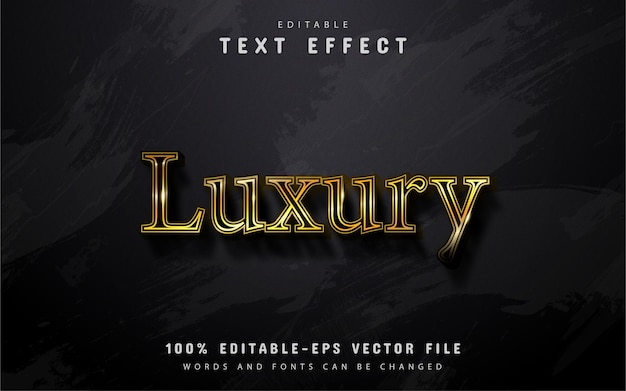 Testo di lusso, effetto testo in stile oro