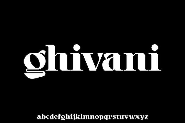 Carattere elegante di tipo lusso e set di alfabeto glamour