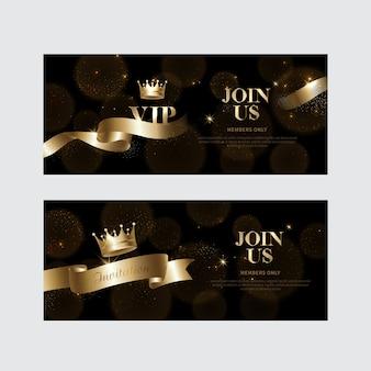 Inviti vip di lusso e sfondi coupon