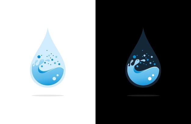 Illustrazione di logo di goccia d'acqua di lusso