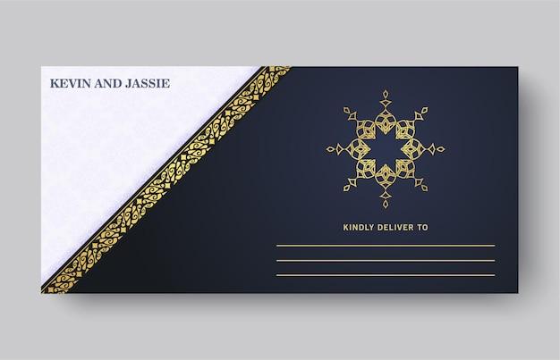 Carta di invito a nozze di lusso