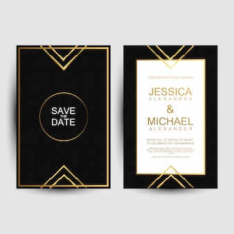 Biglietti d'invito di nozze di lusso