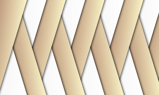 Strisce bianche e bronzo di lusso con sfondo di ombre. miglior design per poster, banner.