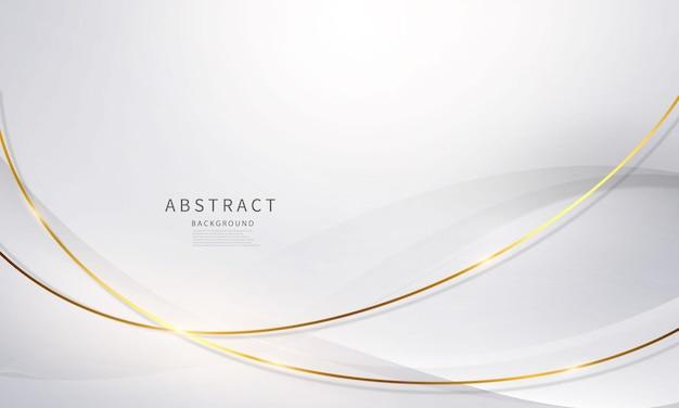 Fondo astratto moderno dell'oro bianco di lusso