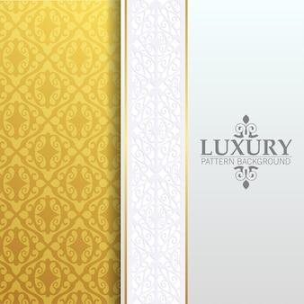 Priorità bassa del modello di ornamento bianco di lusso