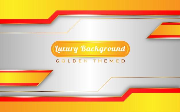 Tema dorato di lusso con sfondo sfumato giallo e bianco