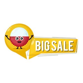 Litchi grande vendita mascotte simpatico personaggio