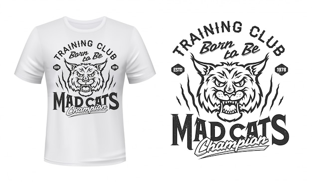 Mascotte lynx per stampa t-shirt