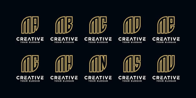 Iniziali del modello di progettazione del logo m ed ecc
