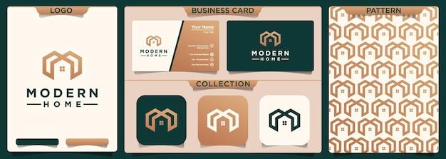 M home logo design.
