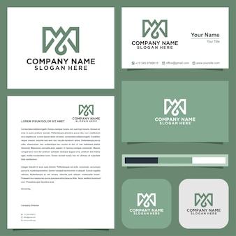 M lettera logo premium