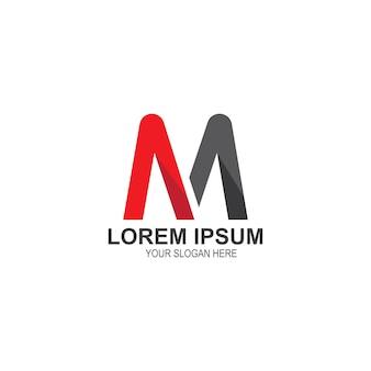 Modello di lettera m logo