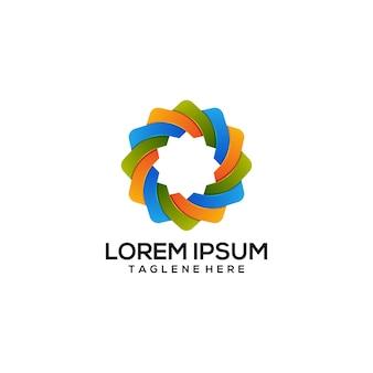 Logo m colorato