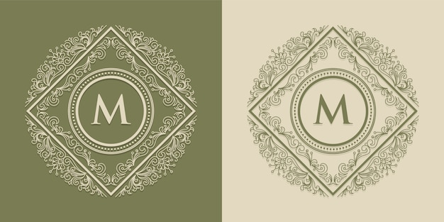 Loghi ed etichette monogramma m luxury