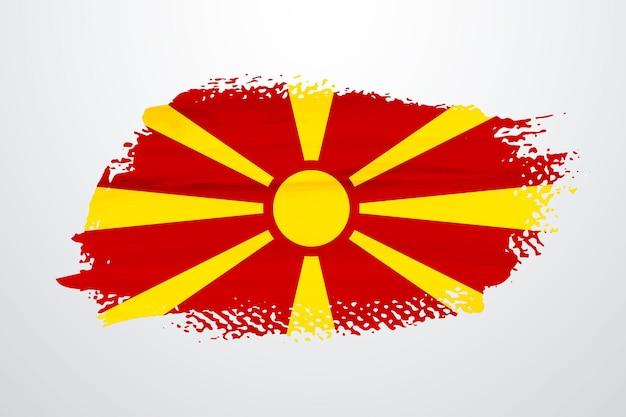 Bandiera della macedonia pennello vernice