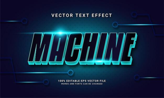 Effetto testo modificabile a macchina con colore blu