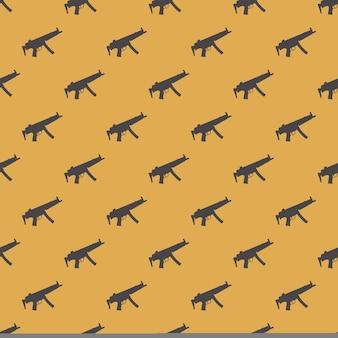 Reticolo del modello di mitragliatrici su priorità bassa bianca. illustrazione in stile creativo e militare