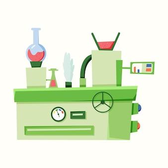 Macchina per l'impianto, meccanismo. illustrazione vettoriale in stile piatto