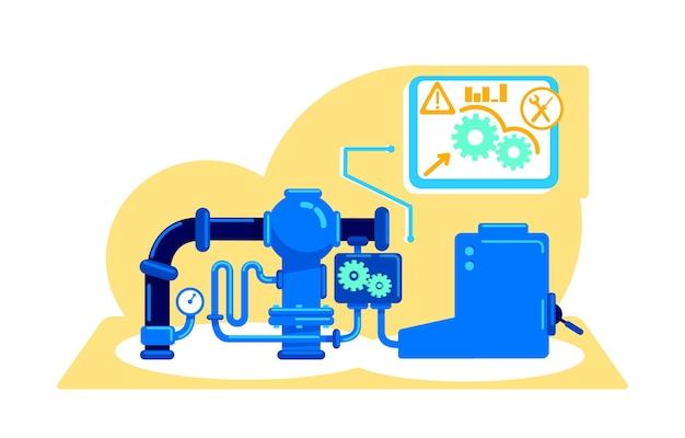 Illustrazione di concetto piatto di macchine