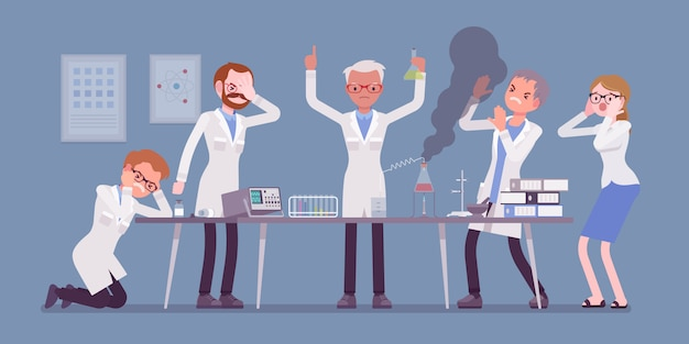 Lo scienziato pazzo ha fallito gli esperimenti
