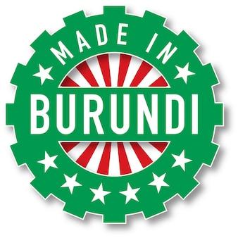 Fatto nel timbro di colore della bandiera del burundi. illustrazione vettoriale