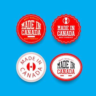 Modello di set di etichette made in canada.