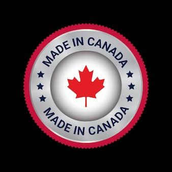 Distintivo con logo vettoriale made in canada