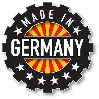 Fatto nel bollo di colore della bandiera della germania. illustrazione vettoriale