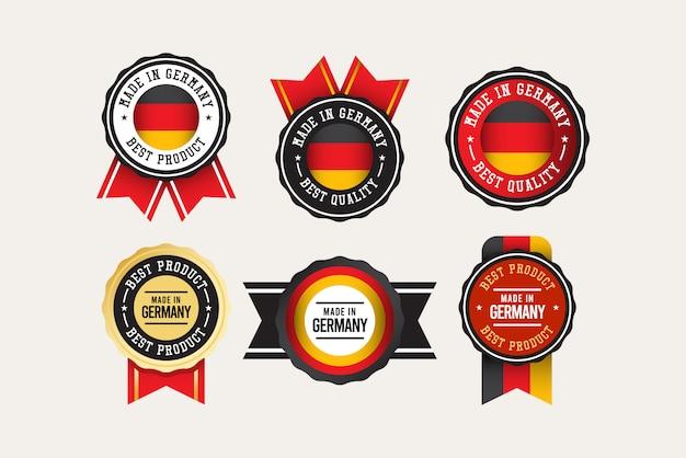 Modello di set di etichette made in germany.