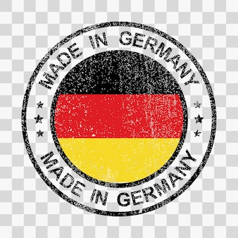 Made in germany timbro in stile grunge