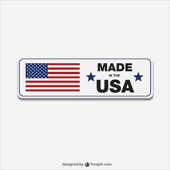 Made in etichetta usa vector