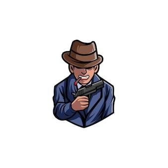 Crimine di gangster mafioso agente uomo