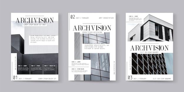 Collezione di copertine di riviste con foto