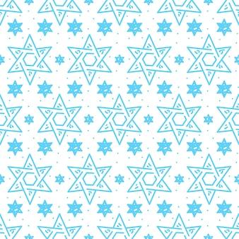 Magen david star modello di simbolo ebraico israeliano senza soluzione di continuità per hanukkah