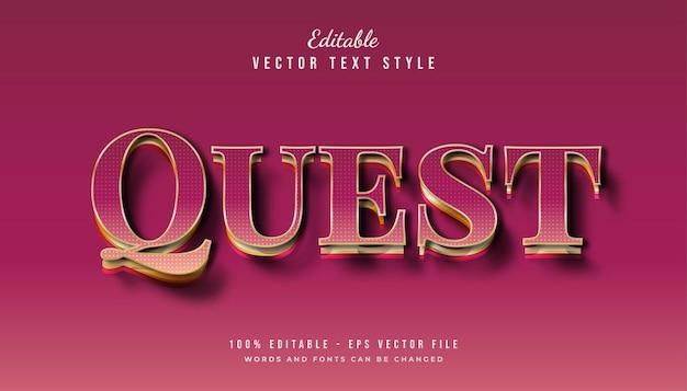 Stile di testo magenta e oro con effetto texture