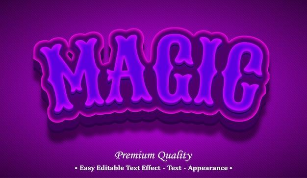 Effetto di stile di testo modificabile 3d magico