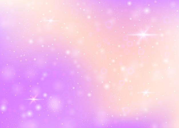 Sfondo magico con maglia arcobaleno.