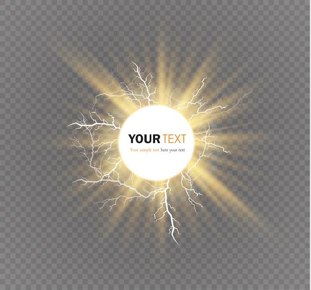 Modello di effetti di luce magici e luminosi Vettore Premium