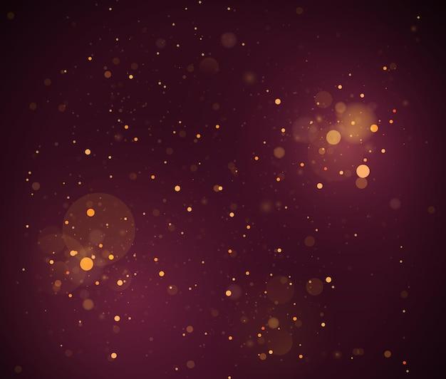 Concetto magico. il bokeh di lusso dorato di lusso dorato di scintillio dell'oro di colore circolare defocused astratto accende il fondo.