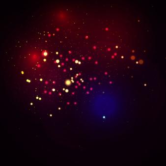 Concetto magico. il bokeh di lusso dorato circolare defocused astratto dell'oro accende il fondo delle luci