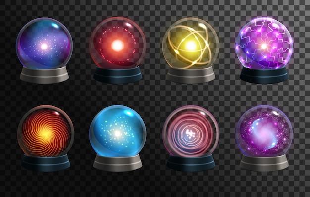 Sfere di cristallo magiche, globi di indovino