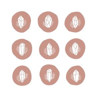 Set di illustrazione di cristallo magico