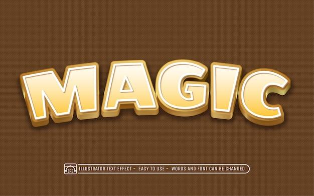 Magic - stile di effetti di testo modificabile