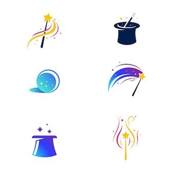 Elemento magico disegno dell'illustrazione dell'icona di vettore template